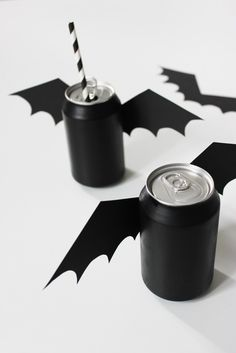 DIY black bats cans ☆