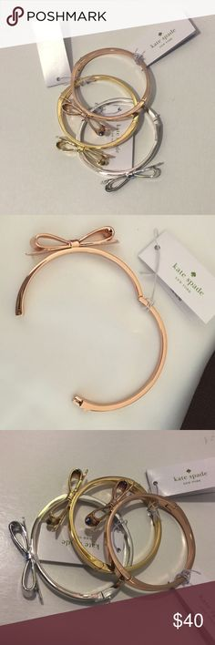 Choice of rose gold/silver/gold hinged bow bangle Price firm! Choose your color choice when purchasing! Gift big/bag included! kate spade Jewelry Bracelets