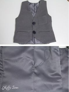 Step 10 - Sew a vest - Boys Holiday Vest with Free Pattern - Melly Sews