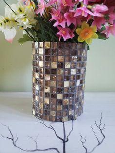 Mosaic Planters, Mosaic Vase, Mosaic Flower Pots, Mosaic Tiles, Flower Vases, Flowers, Cylinder Vase, Floral Bouquets, Weeding
