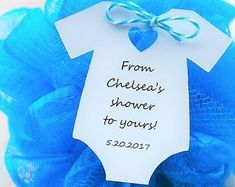 10 Tags ~ Baby Shower ~ Sprinkle ~ Party Favor ~ Girl or Boy Gift Tags ~ From my shower ~ From our shower to yours ~ loofah ~ pouf Baby Shower Party Favors, Party Favor Tags, Baby Shower Parties, Gift Tags, Sprinkle Party, Baby Sprinkle, Clown Balloons, Cheap Baby Shower, Personalized Products