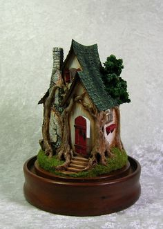 Quarter Scale Acorn Wood Cottage by Jill Castoral