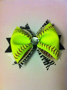 12 softball hair bows by 3CraftinSisters on Etsy, $96.00