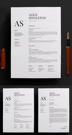 Elegant resume and cover letter . - 履歷 - Elegant Resume / CV and Cover Letter Elegant resume Indesign Resume Template, Template Cv, Resume Design Template, Creative Resume Templates, Creative Resume Design, Professional Resume Design, Templates Free, Cover Letter Design, Cover Letter For Resume