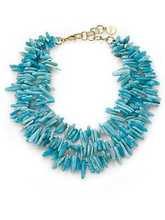 Nest Amazonite Three-Strand Statement Necklace - Available at saksfifthavenue.com
