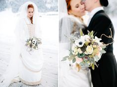 Alice in Winter Wonderland Wedding: Sabrina + Hubert Floral is awesome!