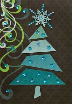 Love the choppy Christmas tree! Sonya Sanchez Arias, Handmade card 08