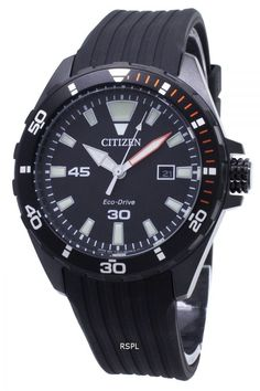 Features:  Stainless Steel Case Rubber Strap Eco-Drive Movement Caliber: E111 Mineral Crystal Black Dial Analog Display Luminous Hands And Markers Date Display Pull/Push Crown Solid Case Back Buckle Clasp 100M Water Resistance  Approximate Case Diameter: 44mm Approximate Case Thickness: 12mm