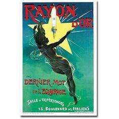 Trademark Art Ryan d'Or Lighting Canvas Wall Art, Size: 30 x 47, Multicolor