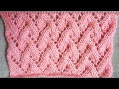 Easy Single Color Knitting Pattern No.112|Hindi - YouTube