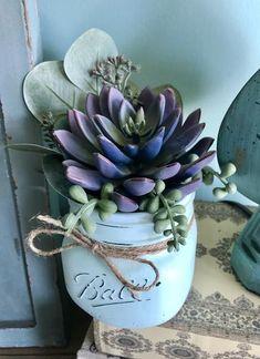 Purple Succulent Mini Arrangement – Stacy Turner Creations