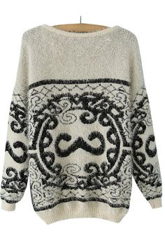 Is it just me . . . or is that a mustache in the middle of this sweater?