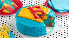 This easy and colorful superhero layer cake will be a hit at any birthday party.