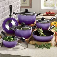 Seventh Avenue 10-Piece Nonstick Flair Cookware Set from Seventh Avenue ® | DI705631