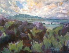 Janet Dixon, Fynbos and Table Mountain on ArtStack #janet-dixon #art