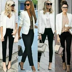 business mode damen blazer and tshirt outfit Blazer Outfits Casual, Classy Outfits, Chic Outfits, Fashion Outfits, White Jacket Outfit, Blazer Fashion, Cream Blazer Outfit, Dress Outfits, Dresses