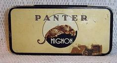 Vintage-Panter-Mignon-4052-Dutch-Cigar-Sigaren-Tobacco-Tin-Holland