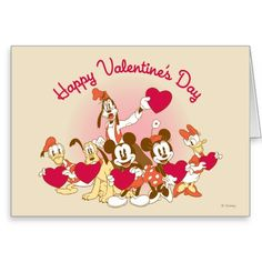 Happy Valentine's Day Greeting Card by Disney