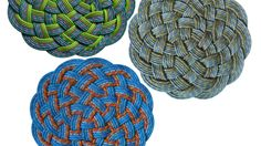 Killigrew Recycled Sailing Rope Mat   AHAlife >> These are awesome and so beautiful!