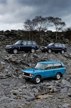 Range Rover Classic and his children.