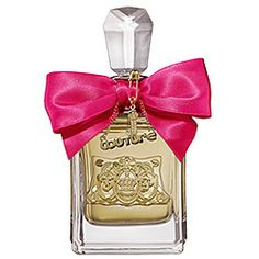 Juicy Couture - Viva La Juicy: I didn't expect to like this perfume. I was never into floral, deep scent of vanilla and sandalwood. But here I am going crazy for it. With it's bottle in a bold gold decanter decorated with Juicy charms, I fell in love. #sephora