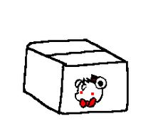 Five Nights at Freddy's Foxy in a box GIF