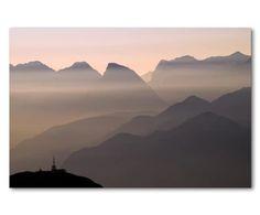 b53a77237add03 Digitaldruck auf Texilleinwand Alpine Sunset Gerahmte Bilder
