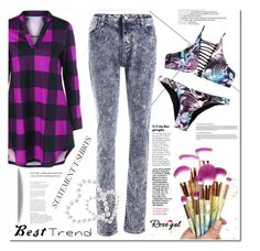 """""""Be in trend... with Rosegal! 44"""" by s-o-polyvore ❤ liked on Polyvore"""