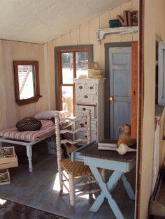 miniature weathered wood room. nice