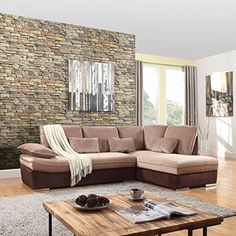 Divano Roma Furniture – Large classic comfortable and soft L shape sectional sofa. Includes extra decorative pillows in the same fabric. Upholstered in ultra soft brush microfiber fabric in soft and comforting colors to best fit your traditional home decor. Chrome finish modern legs to add... more details available at https://furniture.bestselleroutlets.com/living-room-furniture/sofas-couches/product-review-for-classic-large-brush-microfiber-l-shape-sectional-sofa-couch