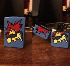 cyndaquil zippo lighter i made as a gift Pokemon Remake, Zippo Lighter, Fan Art, Memes, Gifts, Presents, Meme, Favors, Gift