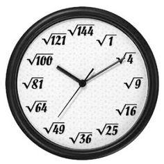 My math nerd friends would love this clock .my best Friend Frank, especially! Math Jokes, Math Humor, Math Clock, Math Wallpaper, Math Magic, Math Poster, Physics And Mathematics, Math Vocabulary, Math Formulas