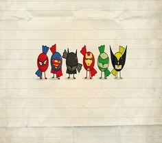 Superhero candy