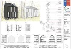 Galería de Mención Honrosa en Concurso de diseño de vivienda social sustentable en la Patagonia / Aysén, Chile - 12 Patagonia, Social Housing, Competition, Floor Plans, Architecture, Ea, Chile, Socialism, Log Projects