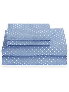Shop for Tommy Hilfiger Chambray Dot Riviera Blue Sheet Set. Get free delivery On EVERYTHING* Overstock - Your Online Bedding Basics Store! Twin Xl Sheets, Twin Sheet Sets, 100 Cotton Sheets, Cotton Sheet Sets, Bed Sheets, Bedding Basics, Novelty Print, Outfit