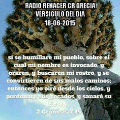 Versículo del dia.  2 Cronicas 7:14  Si se humillare mi pueblo, sobre el cual mi nombre es invocado, y oraren, y buscaren mi rostro, y se convirtieren de sus malos caminos; entonces yo oiré desde los cielos, y perdonaré sus pecados, y sanaré su tierra.