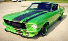 Bad ass Green Ford Mustang .... # clean # low ♠... X Bros Apparel Vintage Motor T-shirts, mustangs, Great price