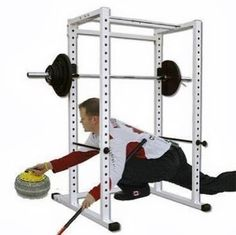 and you shouldn't be curling in the squat rack anyways! *Edit: It's a power rack shown above, not a squat rack. Power Rack, Training Motivation, Weight Training, Shoe Rack, Squats, Curling, Pump, Bodybuilding, Fitness