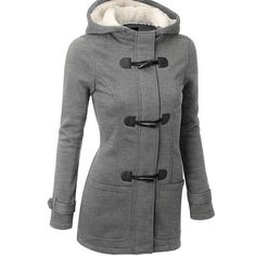 Autumn Winter Horns Buckle Coat Thickening Long Hats Wool Jacket Jacket