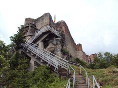 Original Vlad Tepes (Dracula) Castle. Poienari, Transilvania - Rumania