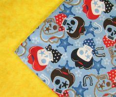 Baby Blanket Handmade Fun Cowboy Skull Print Print Blanket Baby Shower Gift Stroller Blanket