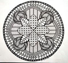 Zendala by Vlemmix - Voorbeeldkaart - Zendala Fantasie - Categorie: Mandala - Hobbyjournaal uw hobby website