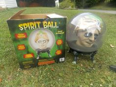 "Halloween Gemmy Spirit Ball SULTAN Large 14"" Animated Talking Prop GYPSY MAN"