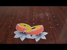 2021 New year special rangoli (7×4) dots... - YouTube Rangoli Designs Latest, Latest Rangoli, Rangoli Designs Flower, Rangoli Border Designs, Rangoli Designs With Dots, Rangoli Designs Images, Rangoli With Dots, Simple Rangoli, New Year Rangoli
