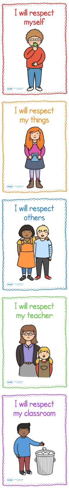 Twinkl Resources >> Respect in The Classroom Display Posters  >> Classroom printables for Pre-School, Kindergarten, Elementary School and beyond! Banners, Display, Posters, Class Management