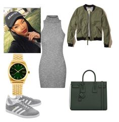 """""""Celebrate Our 10th Polyversary!"""" by mia0424 ❤ liked on Polyvore featuring Hollister Co., adidas Originals, Yves Saint Laurent, Nixon, polyversary and contestentry"""
