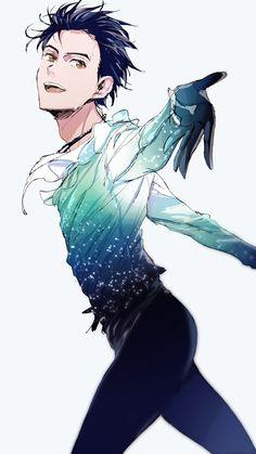 Yuri/Yuuri Katsuki / Yuri on Ice / katsuki Yuuri x yuzuru Hanyu hope and legacy Katsuki Yuri, Yuuri Katsuki, Yuri Plisetsky, Fanart Manga, Manga Anime, Yuri On Ice, Ice Skating, Figure Skating, Me Me Me Anime