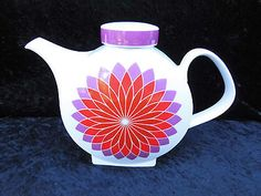 Melitta-Kaffeekanne-Budapest-Pop-Art-70er-Jahre-Kanne-Sternenornament-rot-1-L