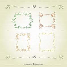 Free Floral calligraphic frames