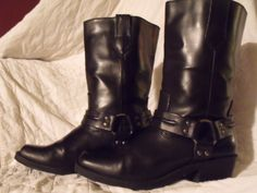 Cowboy boots Harness boot motorcycle boot by OutOfMyMamasAttic, $39.99